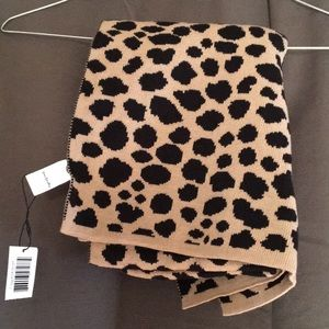 leopard print hat and scarf